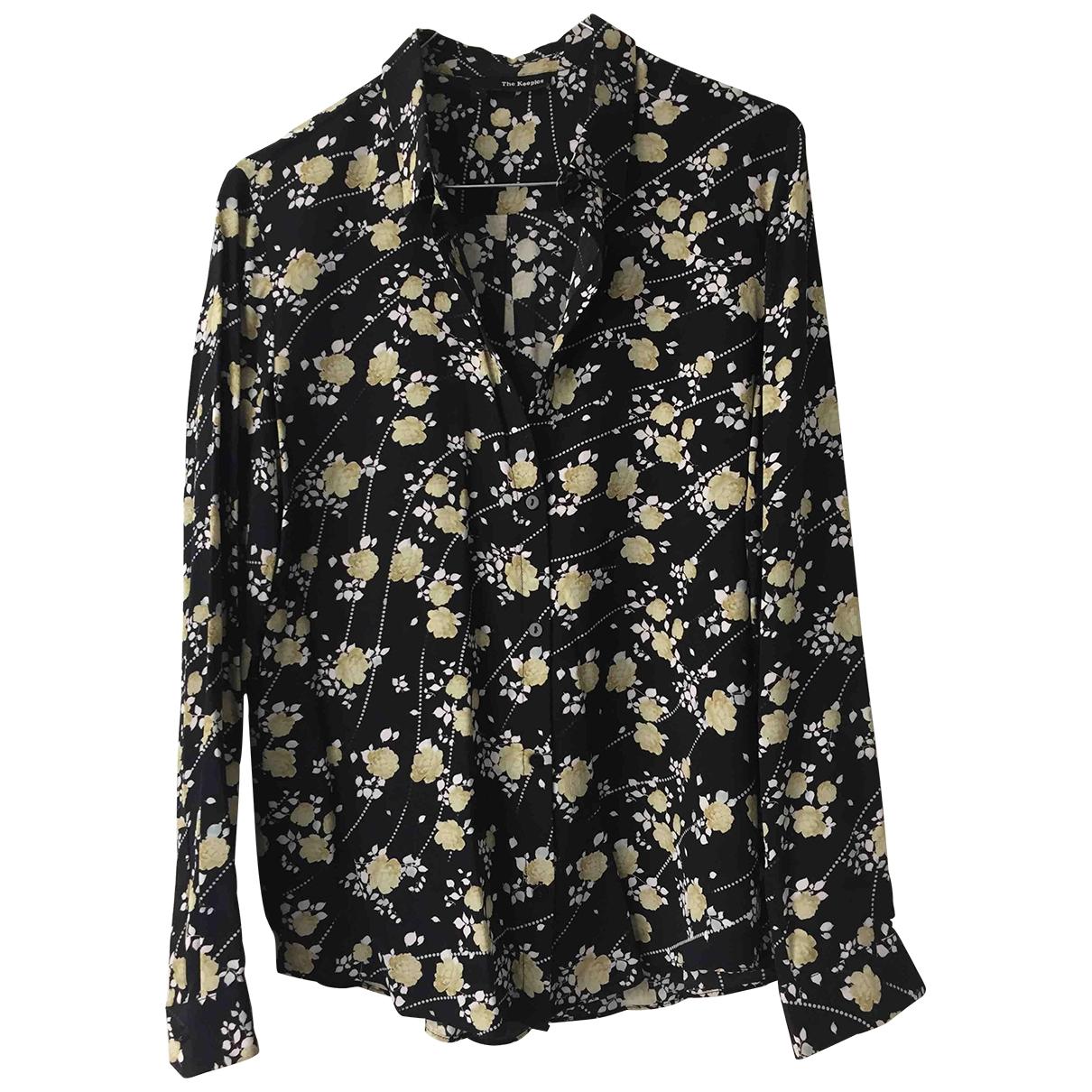 The Kooples \N Black Silk  top for Women S International