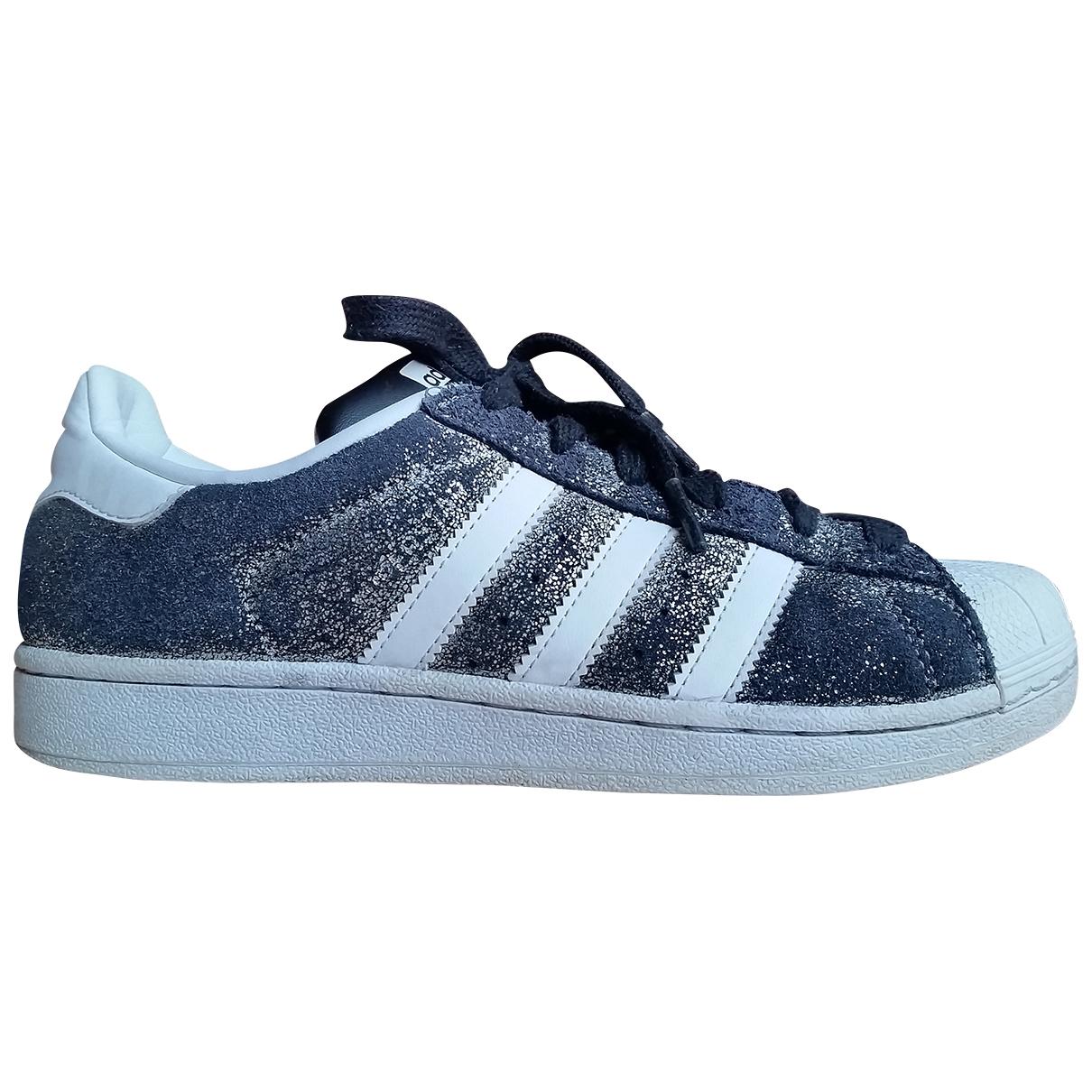Adidas Superstar Grey Suede Trainers for Women 39.5 EU