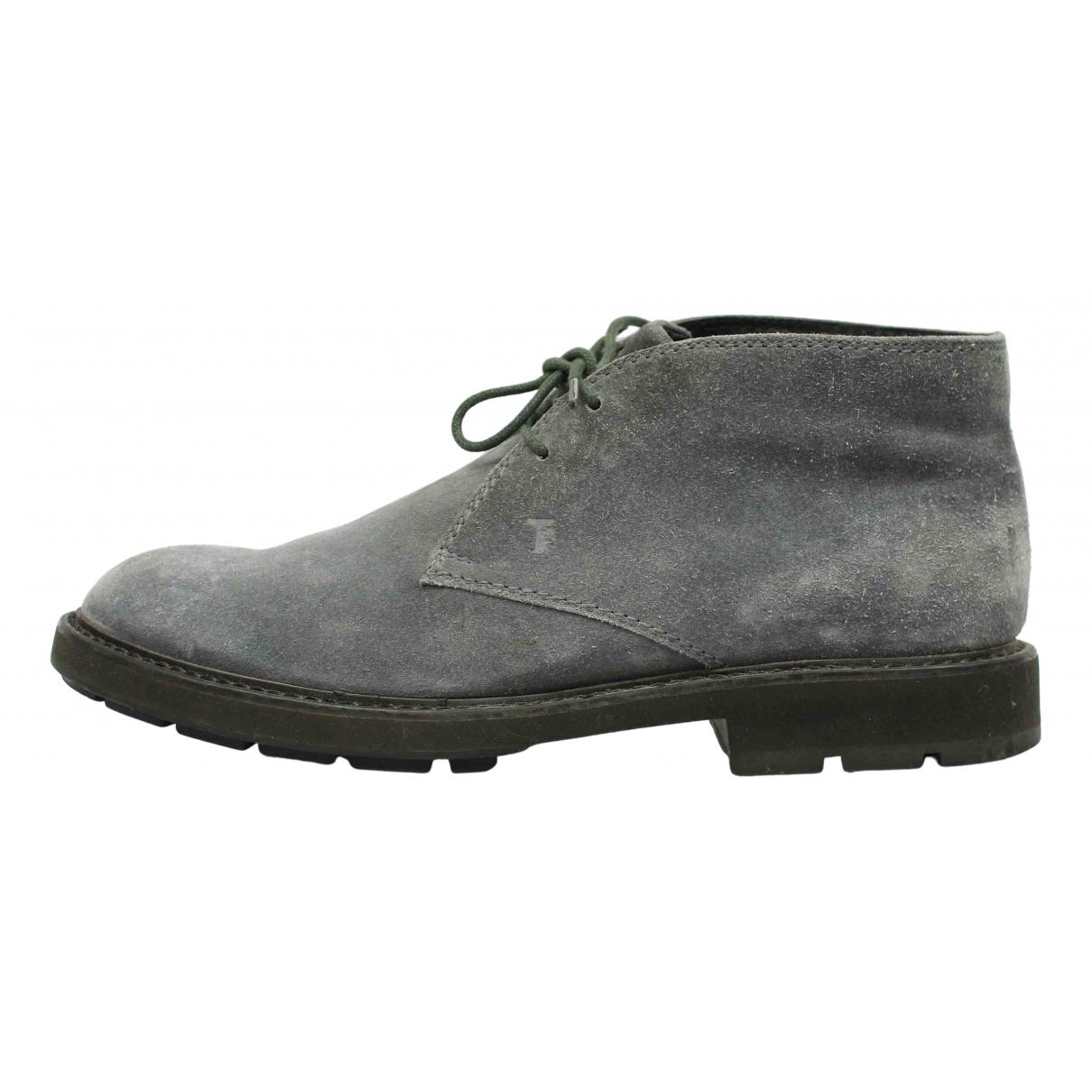 Tods \N Stiefel in  Grau Veloursleder