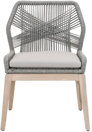 6808KD.PLA/SGRY/GT Loom Collection 6808Kd.Pla/Sgry/Gt Outdoor Set Of 2 Dining Chairs In