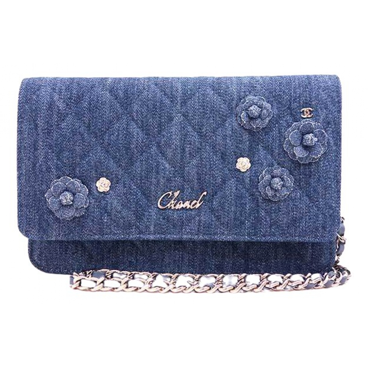 Chanel - Pochette Wallet on Chain pour femme en denim - bleu