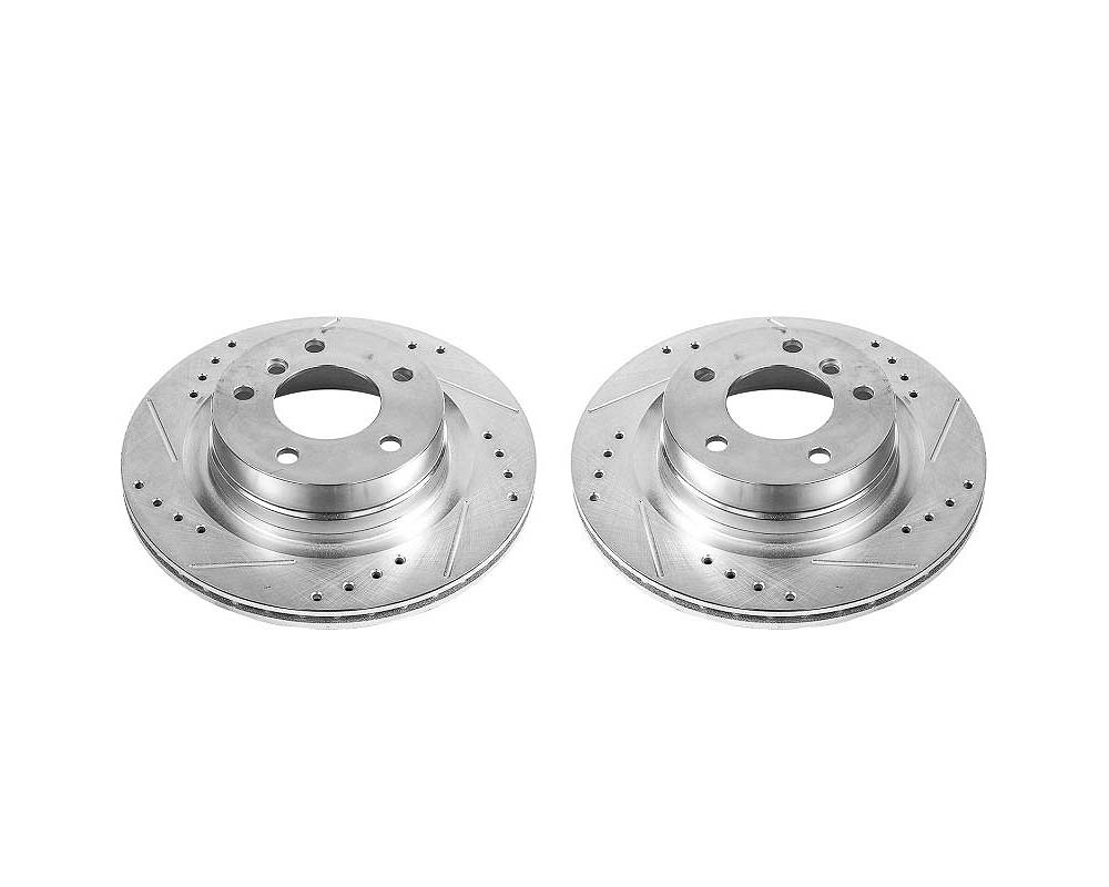 Power Stop EBR1403XPR Evolution Drilled & Slotted Rotors - Pair Rear BMW 228i 2014-2016