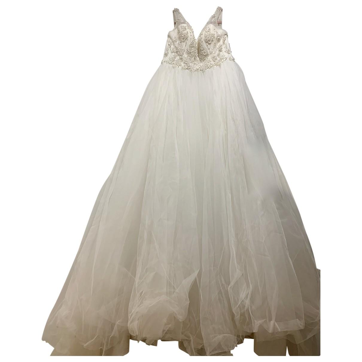Oleg Cassini \N White dress for Women 40 FR
