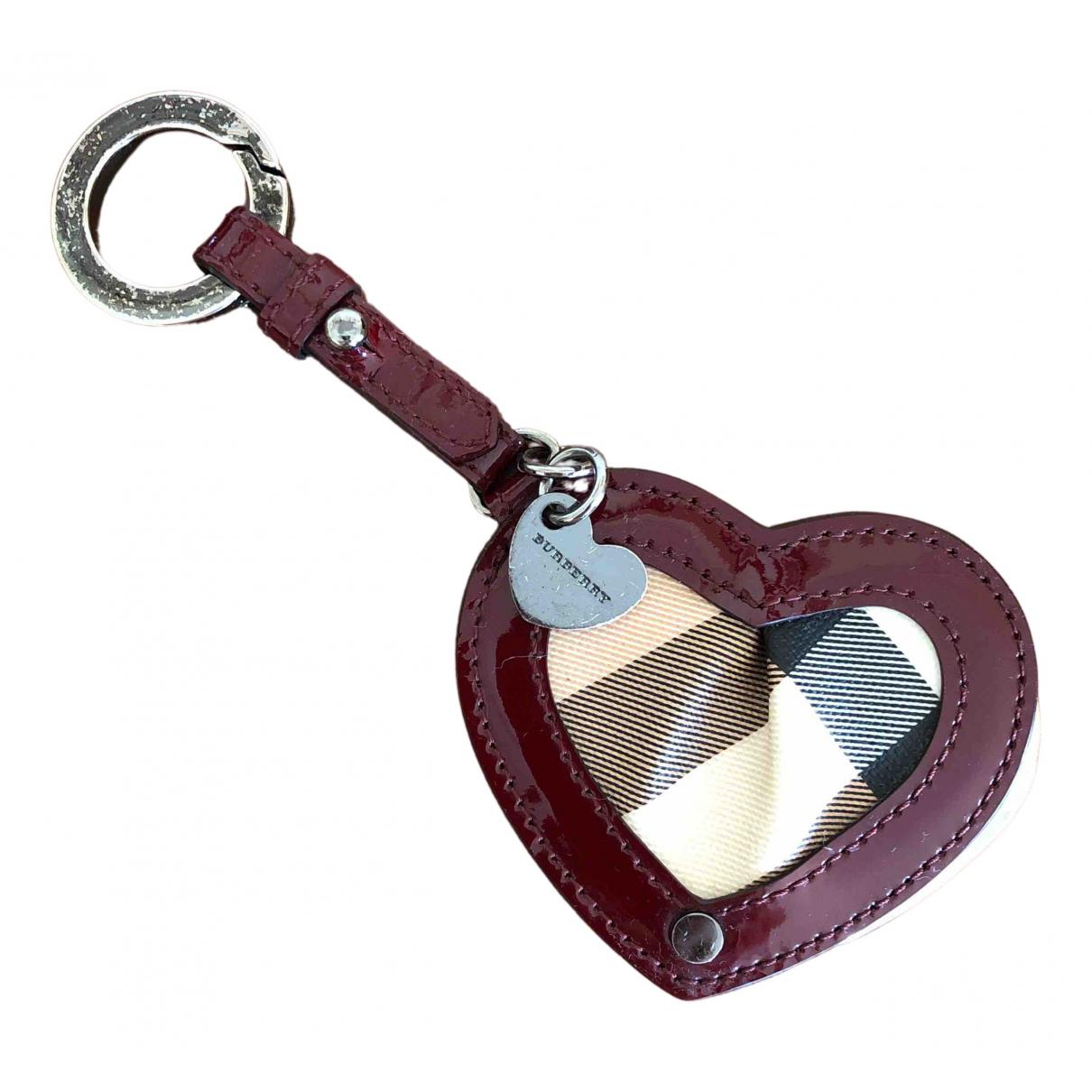 Burberry - Bijoux de sac   pour femme en cuir - bordeaux