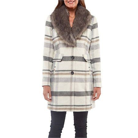 Liz Claiborne Heavyweight Overcoat, X-large , Beige