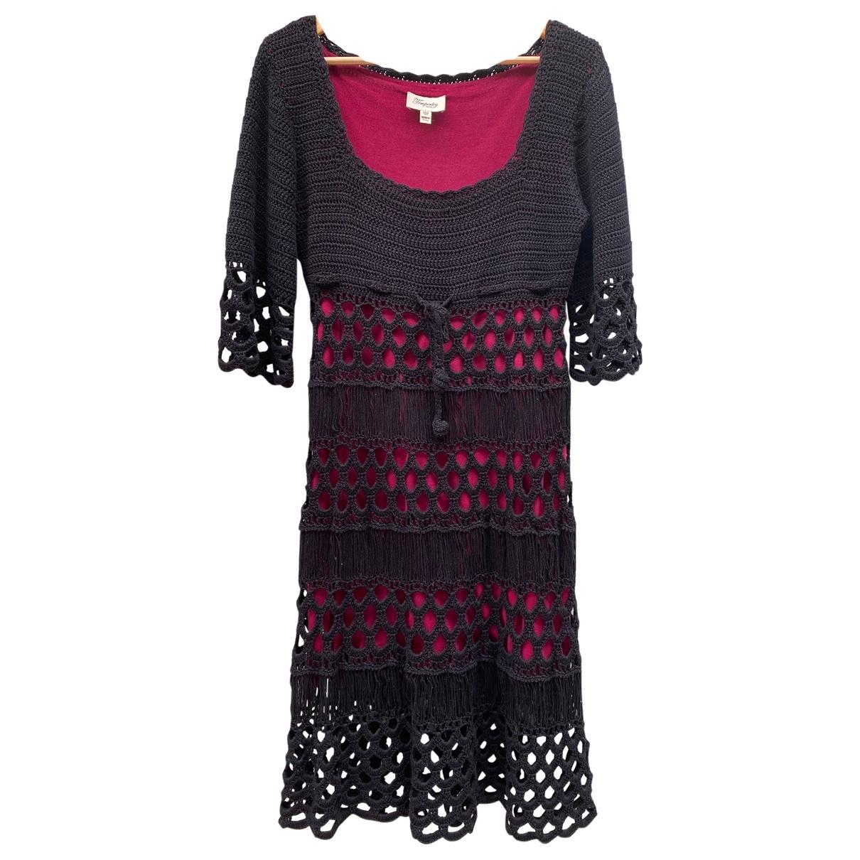 Temperley London \N Black Cotton dress for Women 12 UK