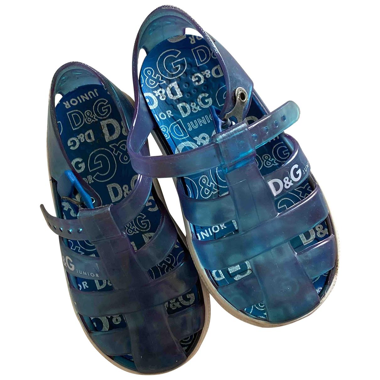 D&g - Sandales   pour enfant en caoutchouc - bleu
