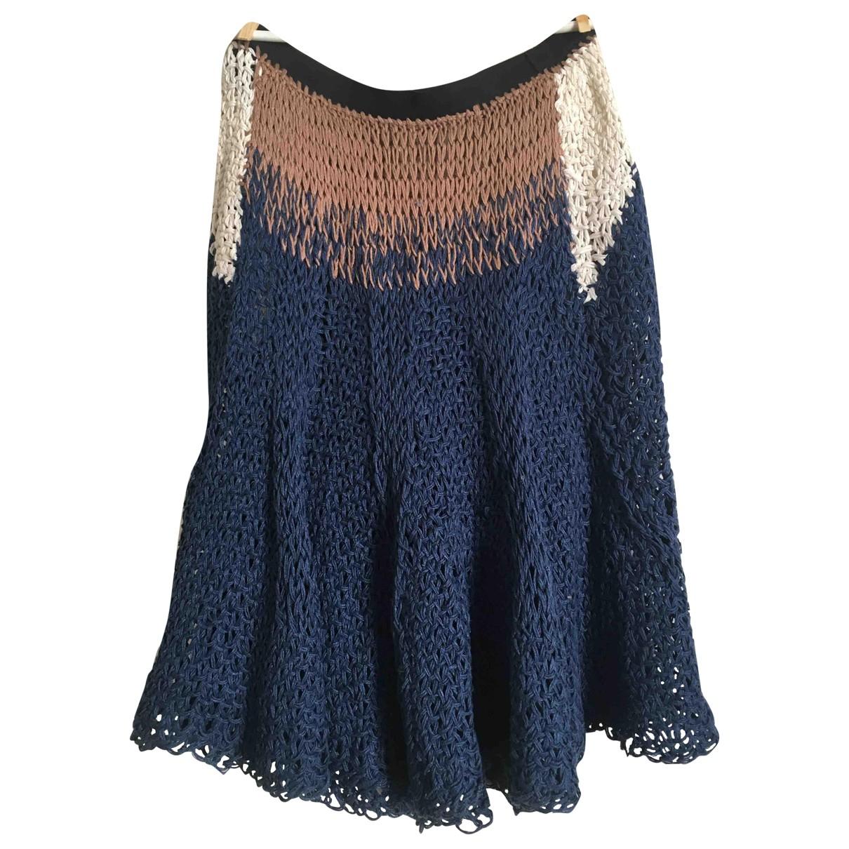 Non Signé / Unsigned Hippie Chic Multicolour Cotton skirt for Women 36 FR