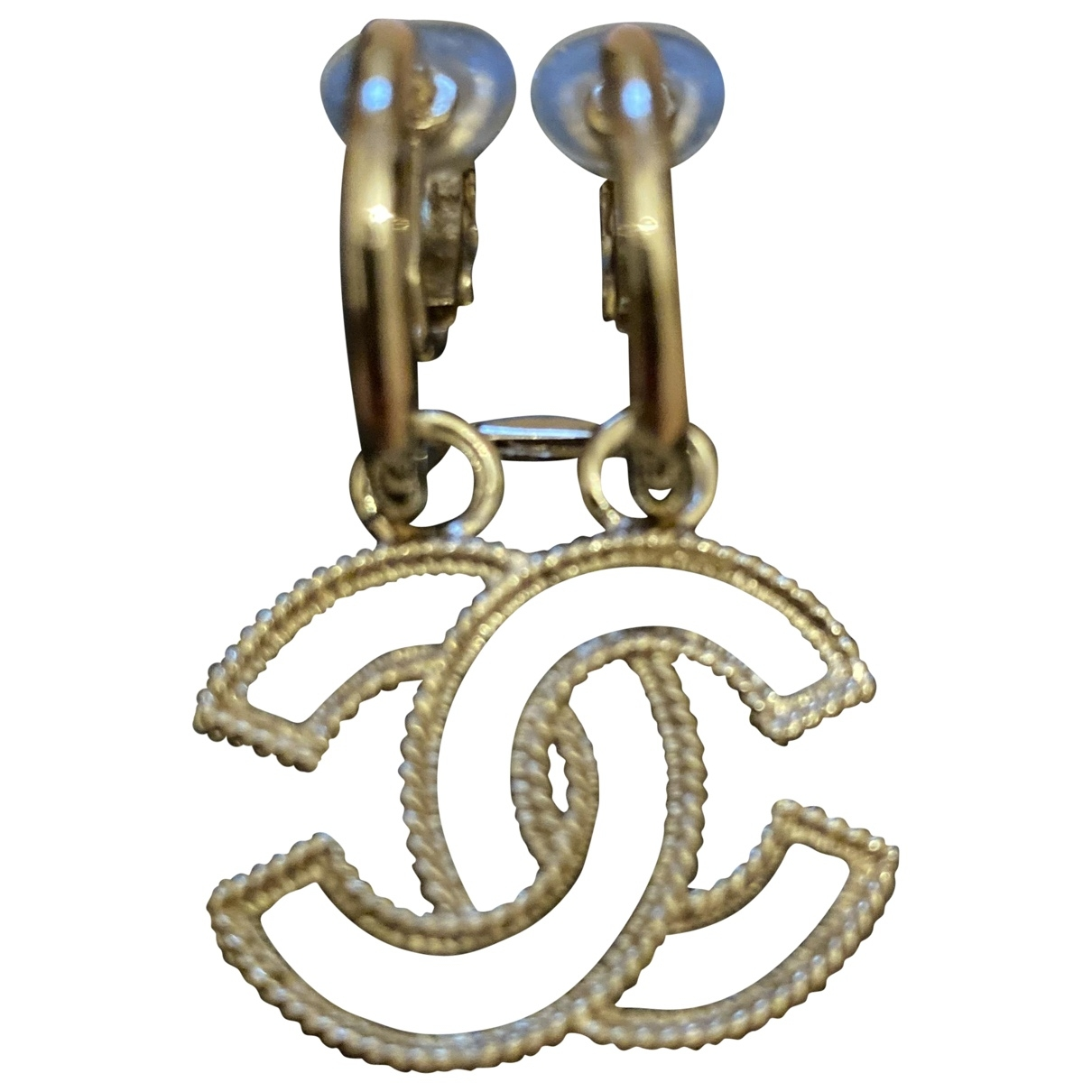 Chanel CC gold and steel Earrings for Women \N