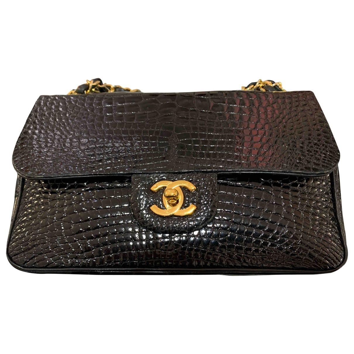 Chanel Timeless/Classique Black Alligator handbag for Women \N