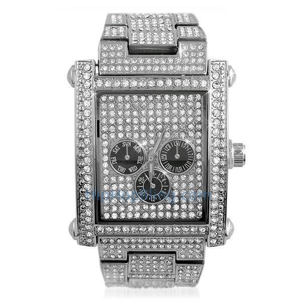 Bling Bling Custom Rectangle Ice Watch