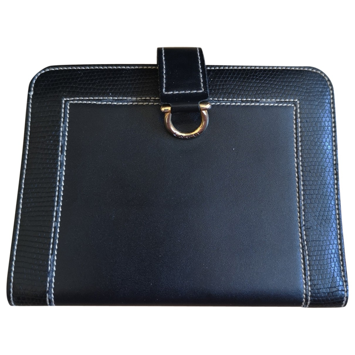 Lancel \N Black Leather wallet for Women \N