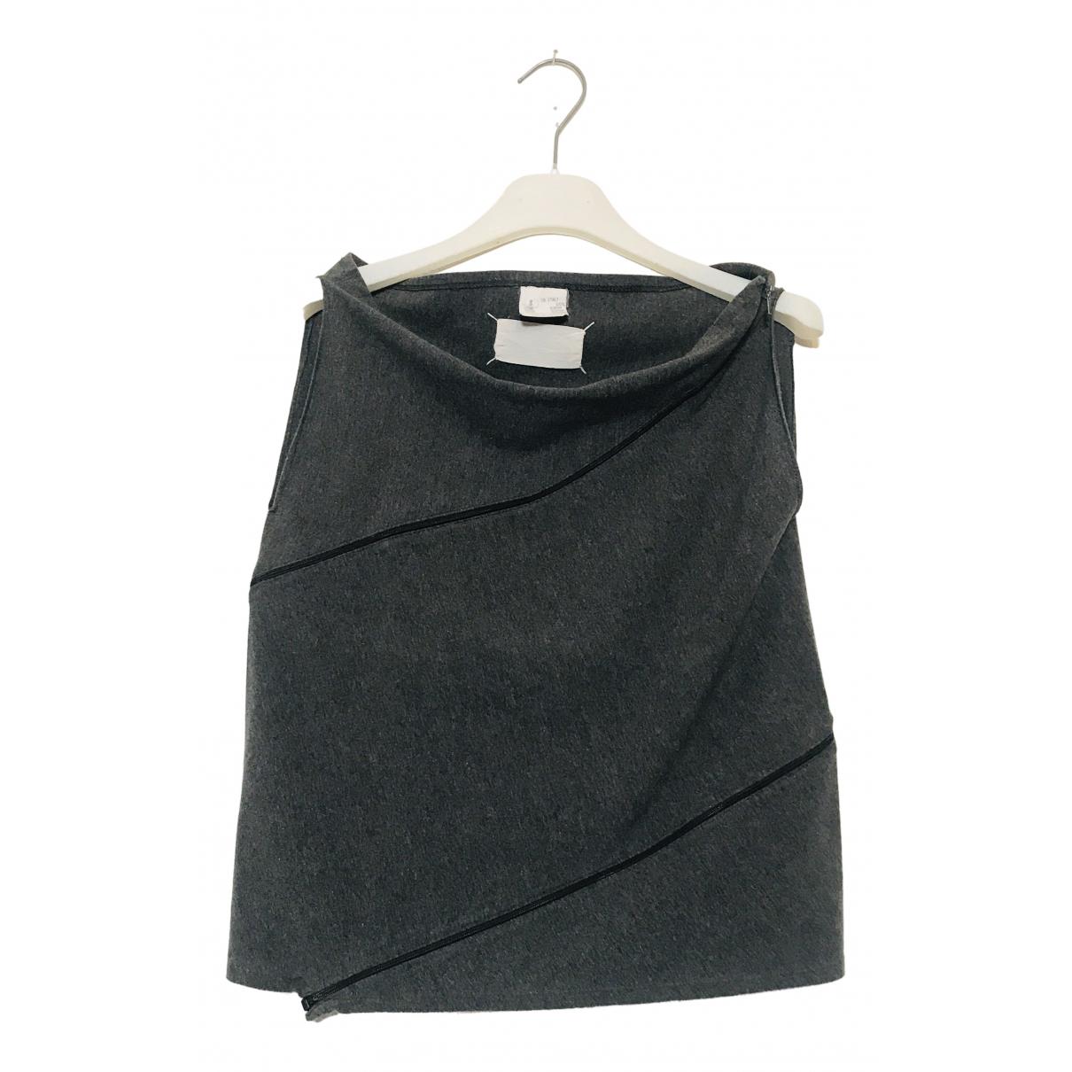 Maison Martin Margiela - Pull   pour femme en coton - gris
