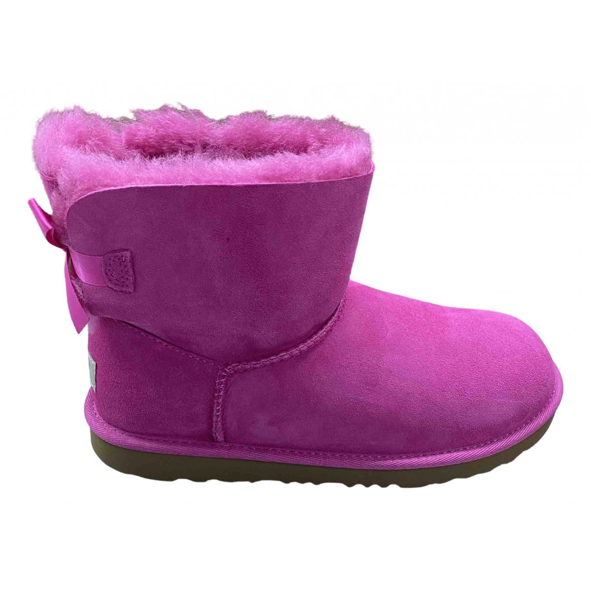 Ugg - Boots   pour femme en suede - rose