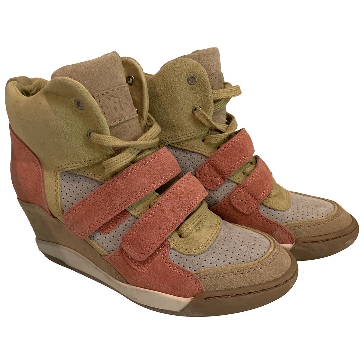 Ash \N Sneakers in  Beige Veloursleder