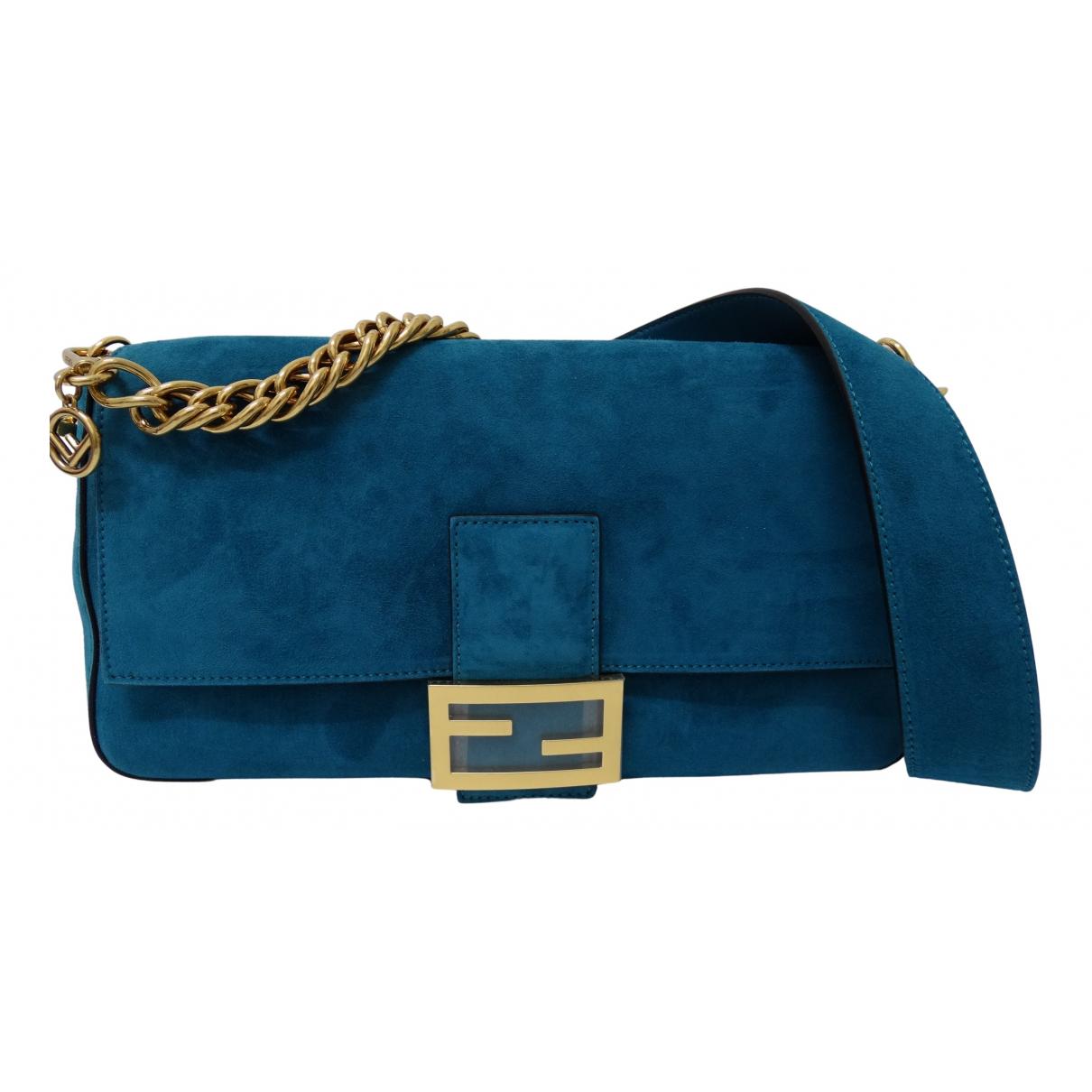 Fendi N Blue Suede handbag for Women N