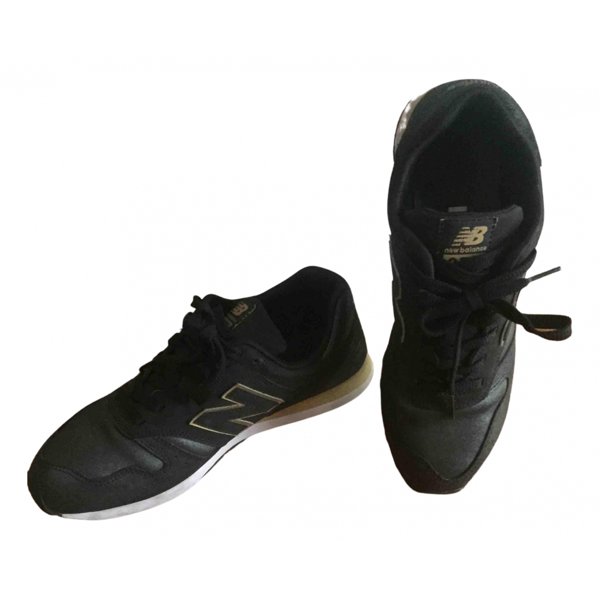 New Balance N Black Suede Trainers for Women 40 EU