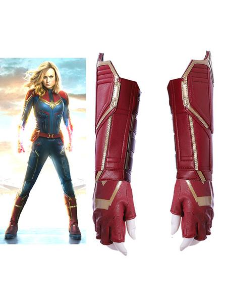 Milanoo Marvel Comics Captain Marvel 2020 The Movie Carol Danvers Halloween Cosplay Gloves And Wrist Guard Only Gloves And Wrist Guard