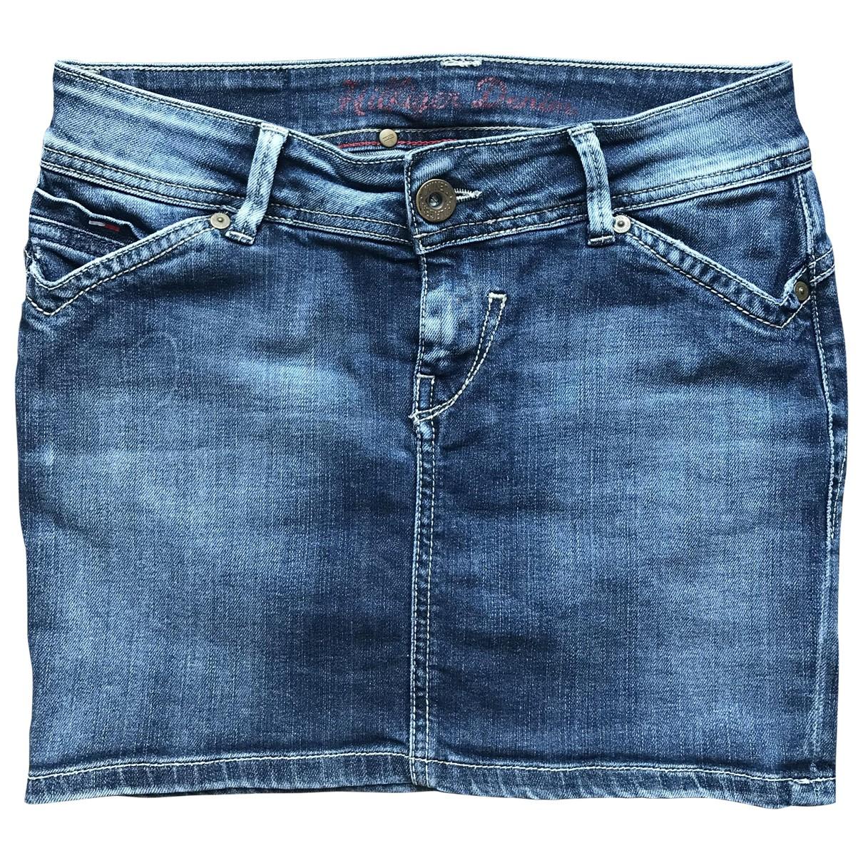 Tommy Hilfiger - Jupe   pour femme en coton - elasthane - bleu