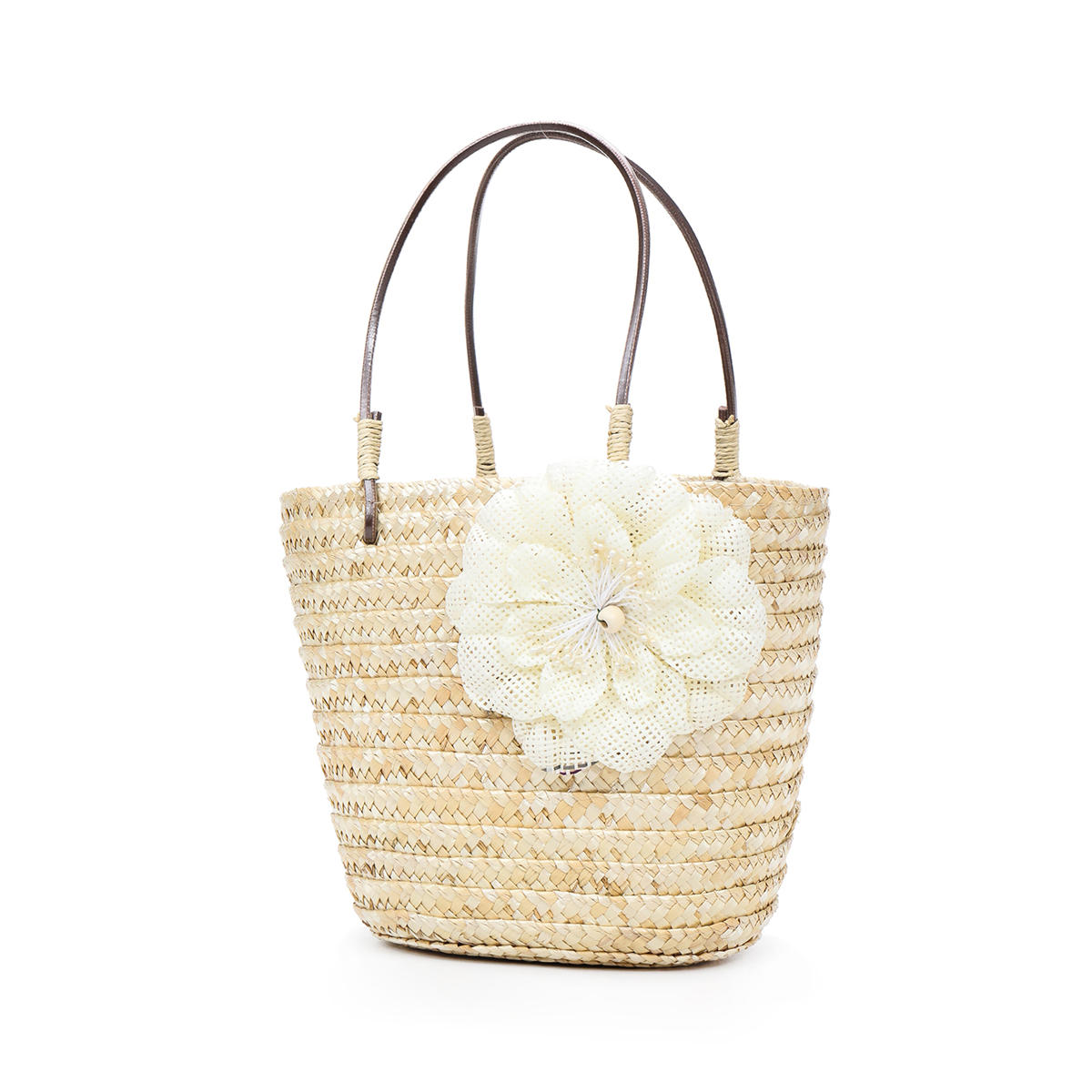 5L Women Straw Bag Woven Beach Handbag Shoulder Tote Outdoor Travel