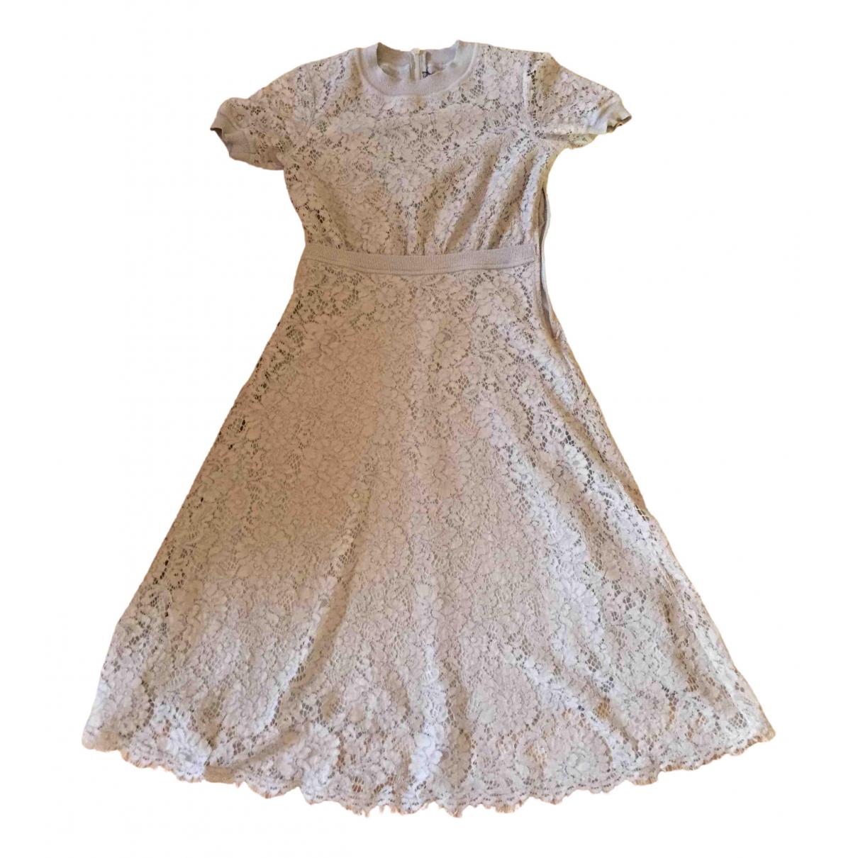Patrizia Pepe \N Kleid in  Grau Spitze