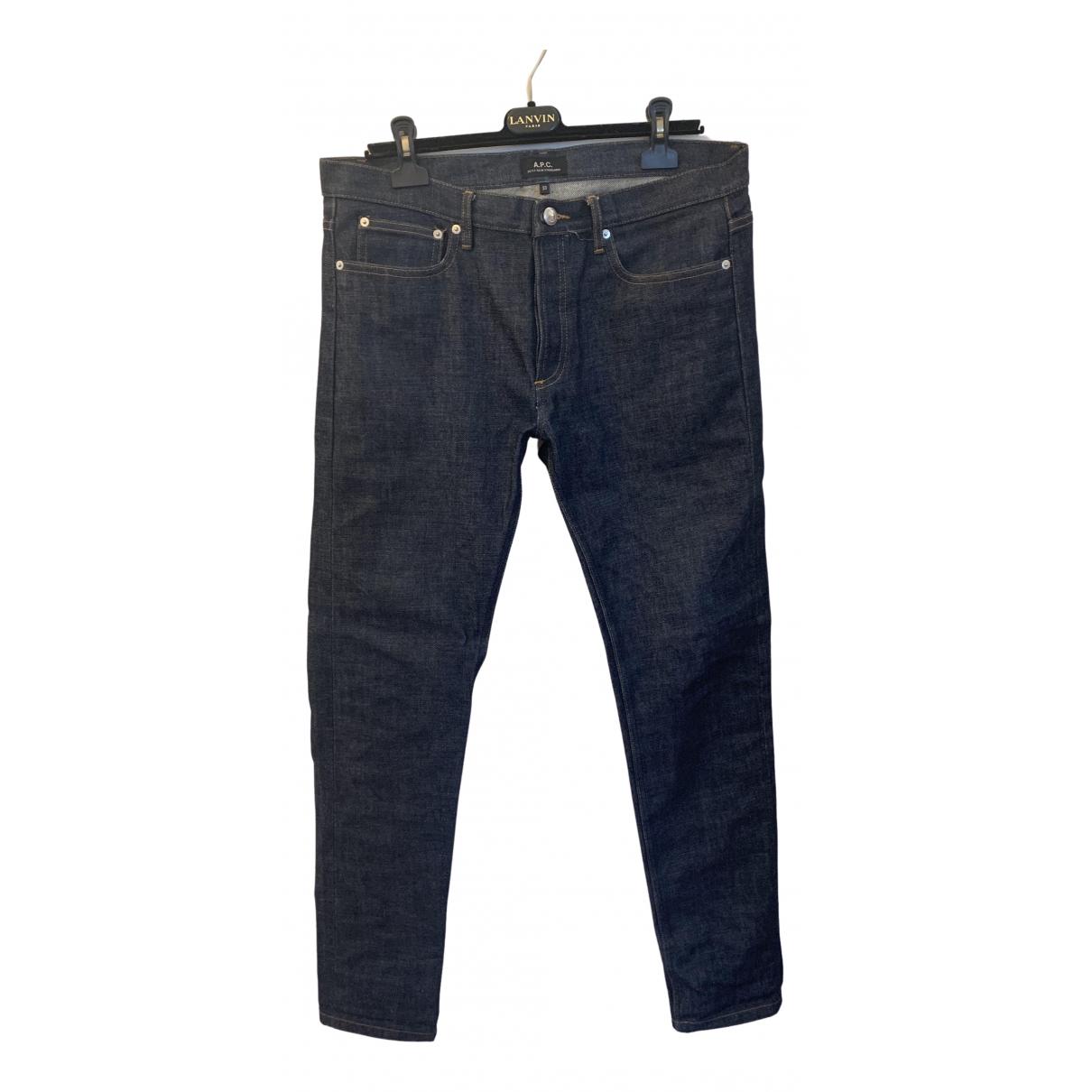 Apc - Jean   pour homme en coton - bleu