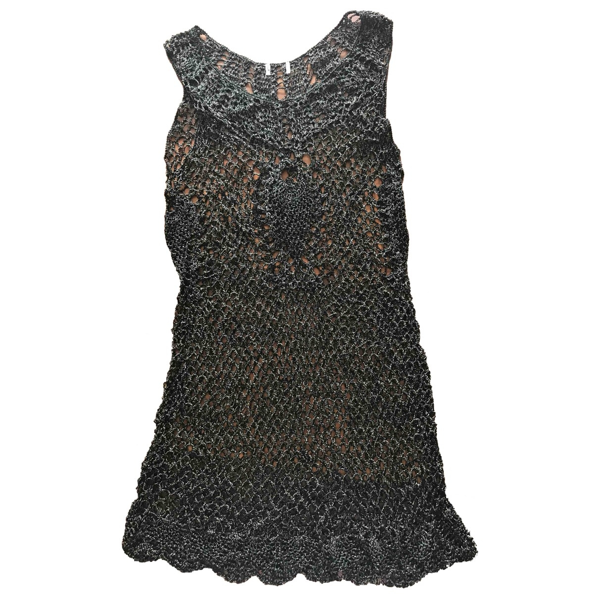 Non Signé / Unsigned \N Black Cotton - elasthane dress for Women 38 FR