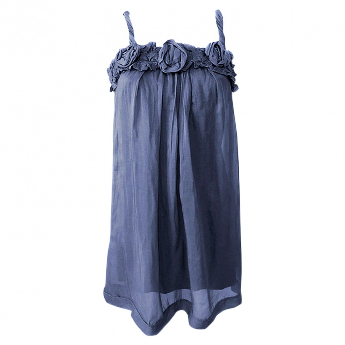 Non Signé / Unsigned \N Blue Silk dress for Women S International