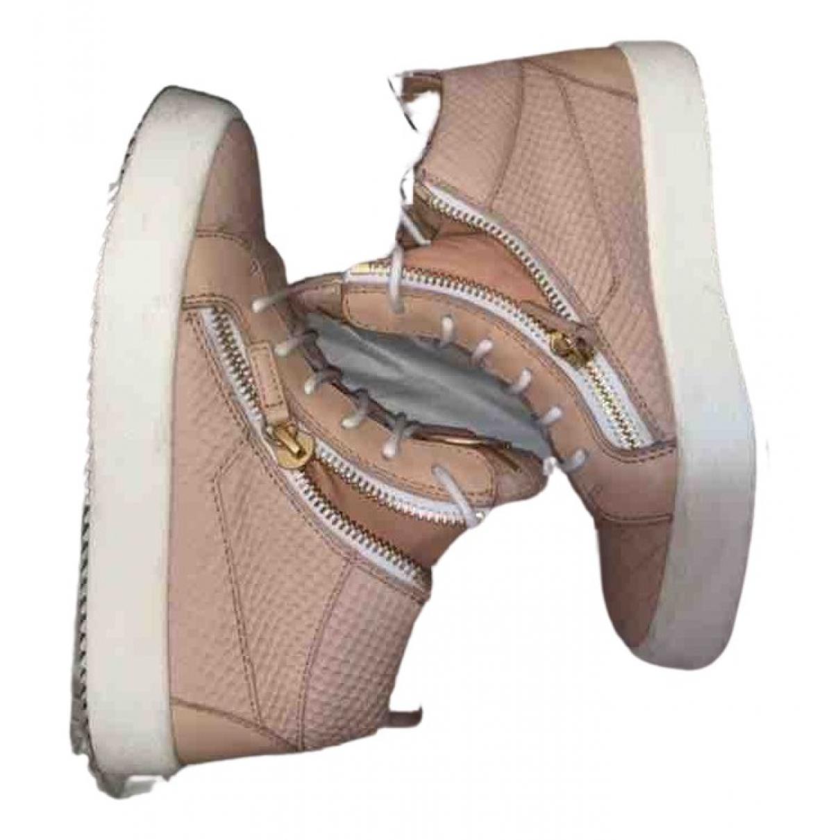 Giuseppe Zanotti - Baskets   pour femme en cuir - rose