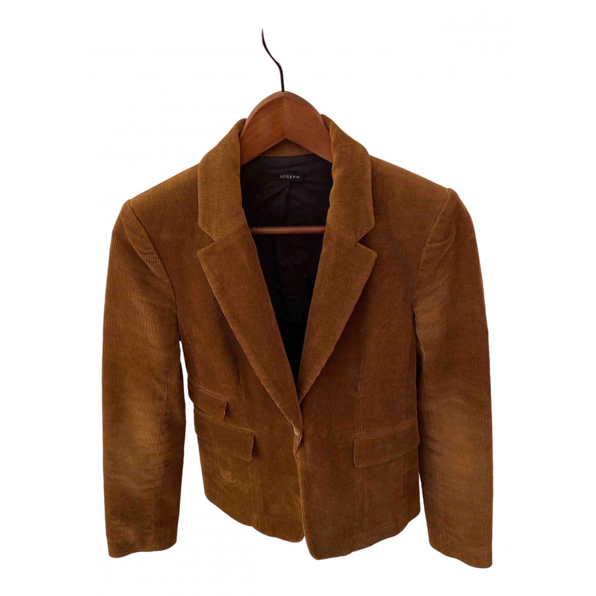 Joseph \N Camel Velvet jacket for Women 36 FR