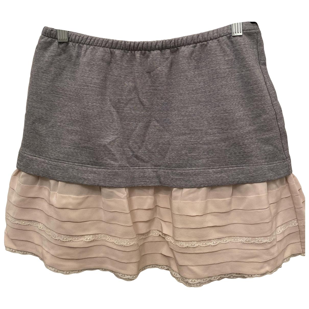Miu Miu - Jupe   pour femme en coton - gris