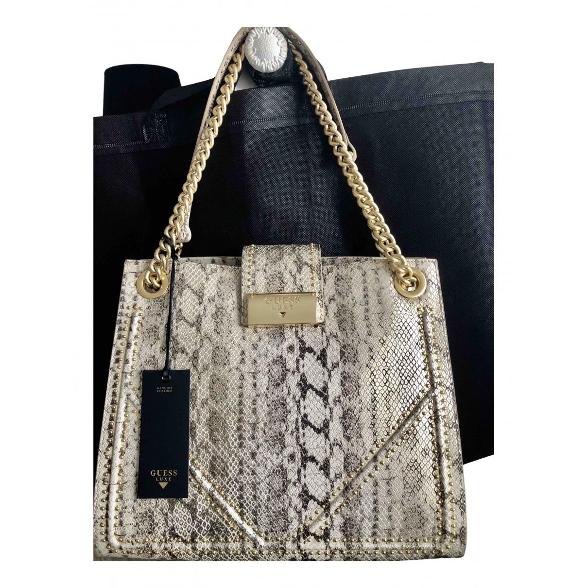 Guess N Beige Leather handbag for Women N