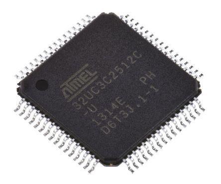 Microchip AT32UC3C2512C-A2UT, 32bit AVR32 Microcontroller, AT32, 66MHz, 512 kB Flash, 64-Pin TQFP