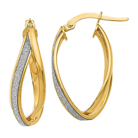 Made in Italy 14K Gold 27mm Hoop Earrings, One Size , No Color Family