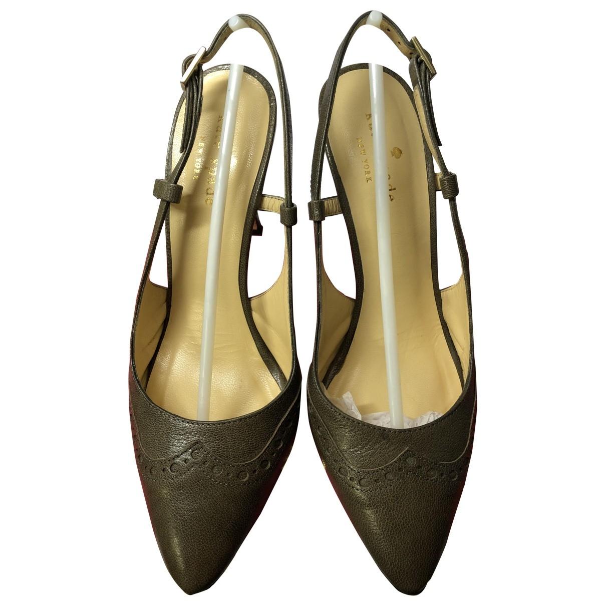 Kate Spade - Escarpins   pour femme en cuir - gris