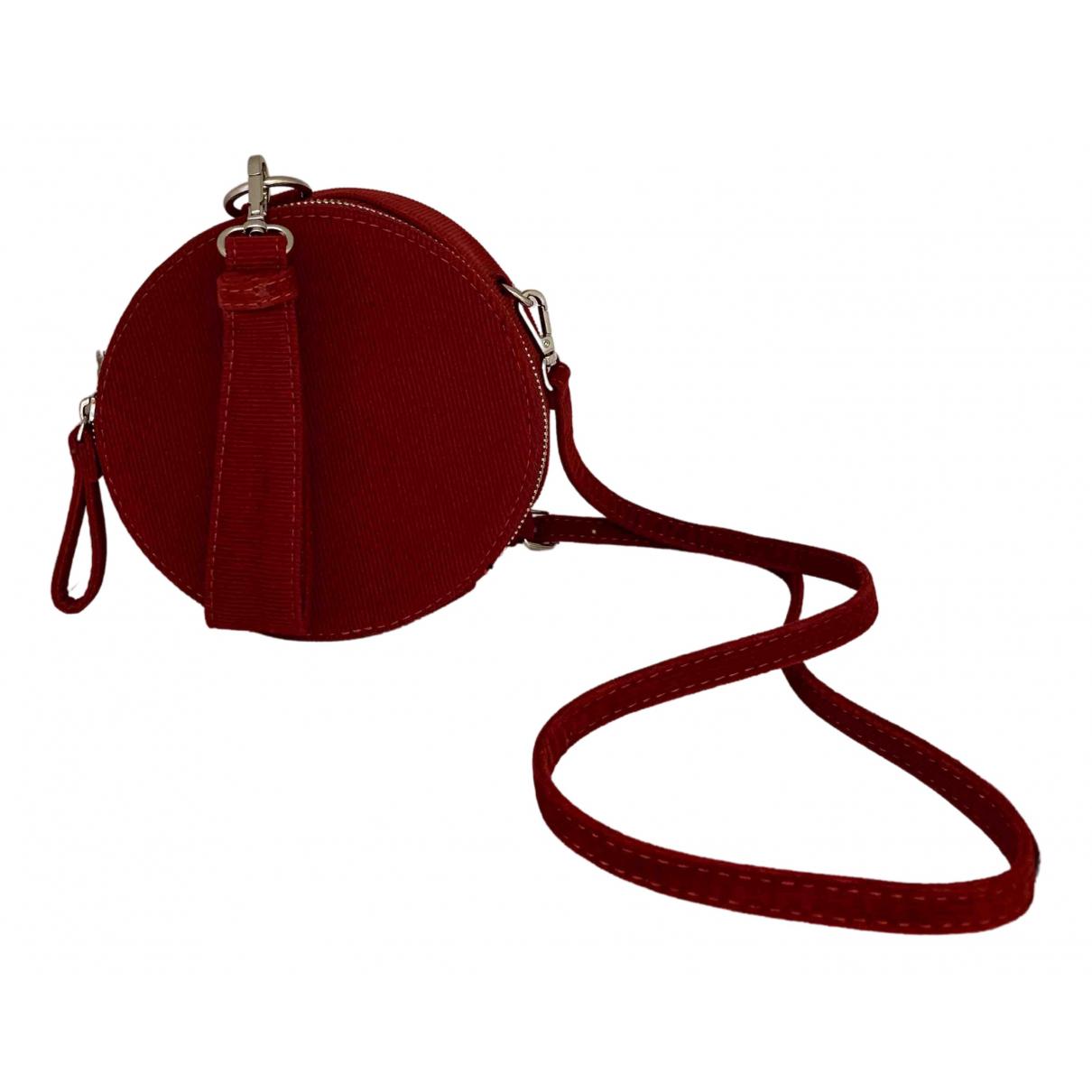 Zara \N Clutch in  Rot Samt