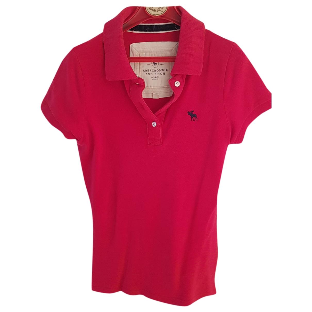 Abercrombie & Fitch - Top   pour femme en coton - rouge
