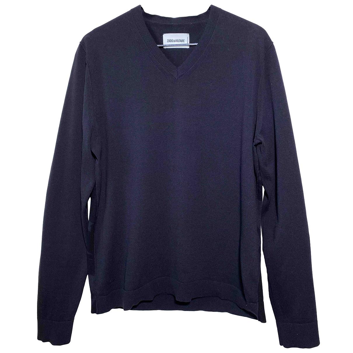 Zadig & Voltaire \N Pullover.Westen.Sweatshirts  in  Schwarz Baumwolle