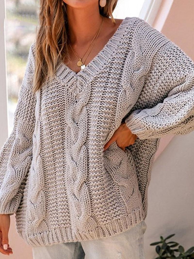 Ericdress Thin Regular Long Sleeve Mid-Length Sweater