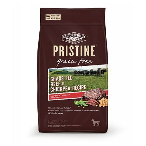 Dry Dog Food Pristine Grain Free Beef 10 lbs by Castor & Pollux