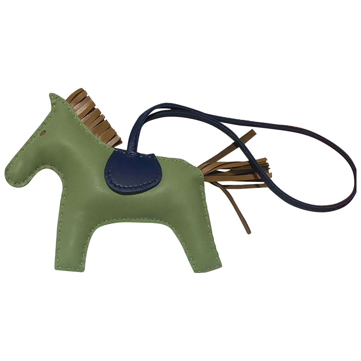 Hermès Rodeo Green Leather Bag charms for Women N