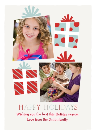 Christmas Photo Cards 5x7 Cards, Standard Cardstock 85lb, Card & Stationery -Playful Presents