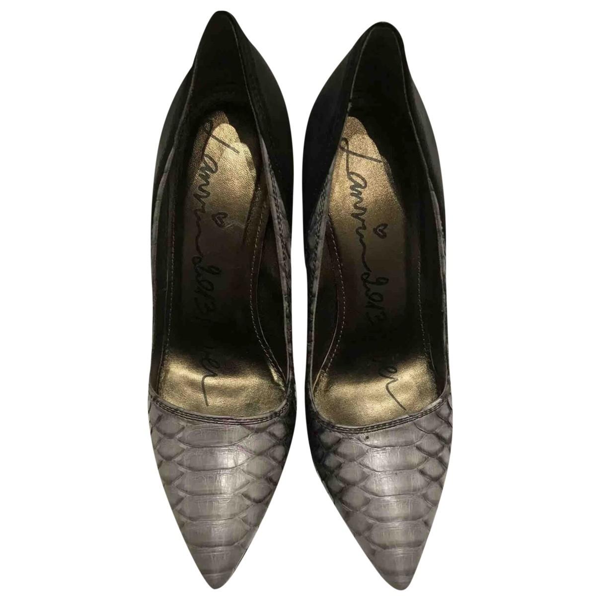 Lanvin \N Grey Python Heels for Women 37.5 EU