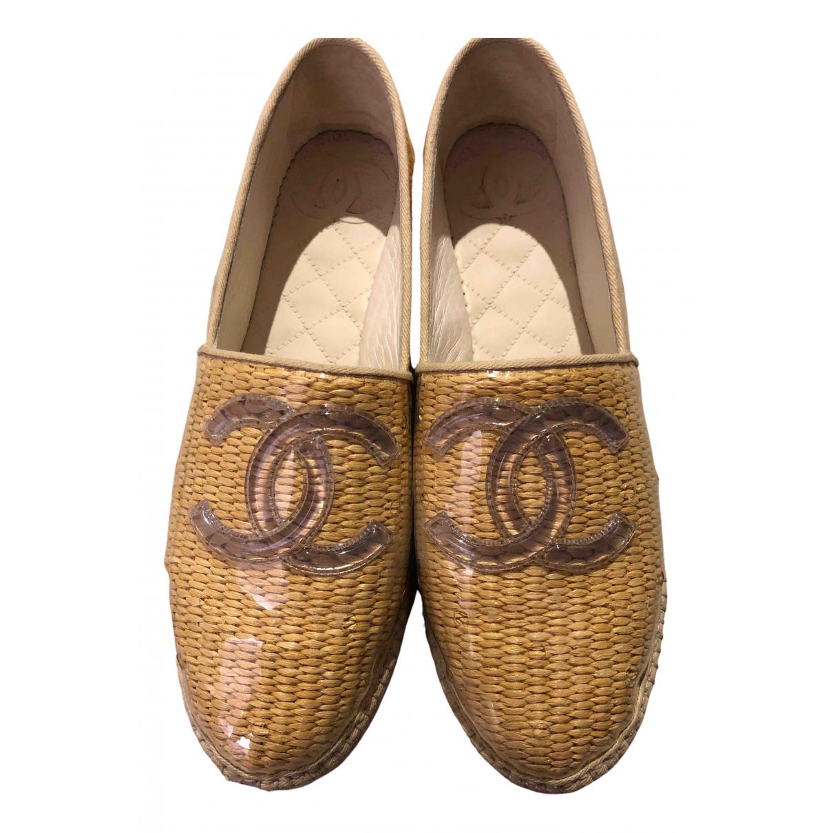 Chanel \N Espadrilles in  Braun Polyester