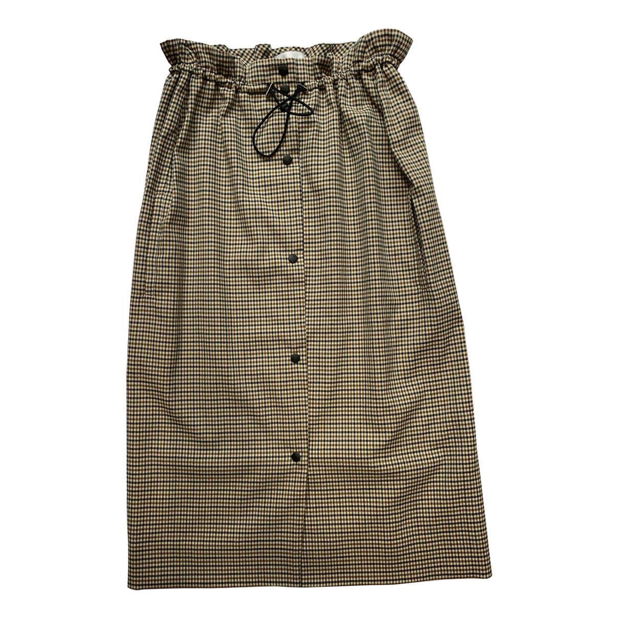 Joshua Millard - Jupe   pour femme en tweed - marron