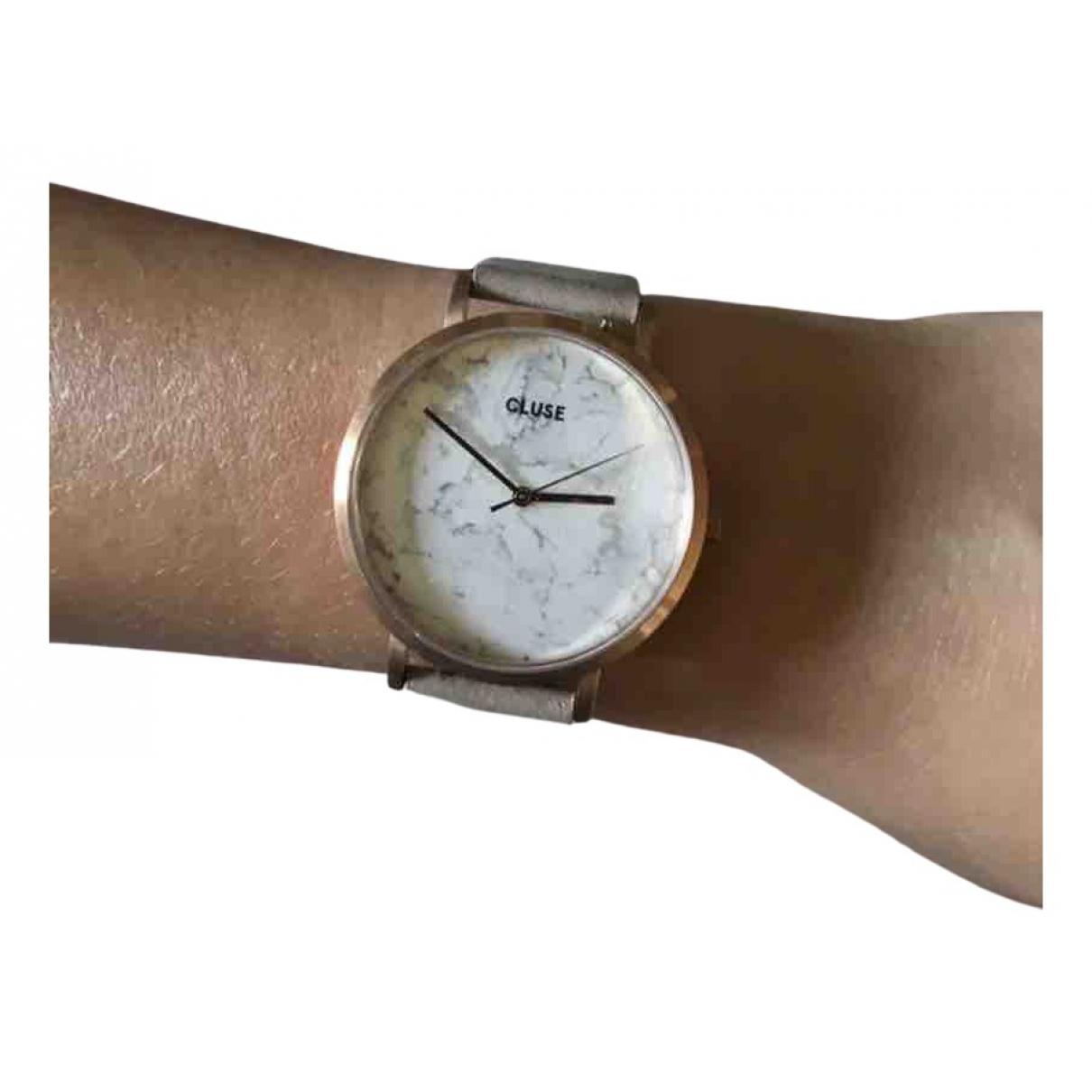 Cluse \N Uhr in  Grau Stahl