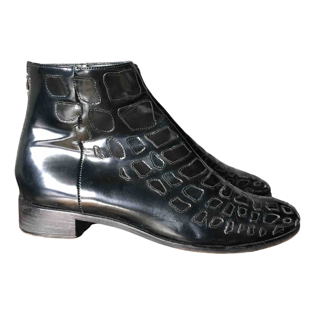 Prada N Black Patent leather Ankle boots for Women 36 EU