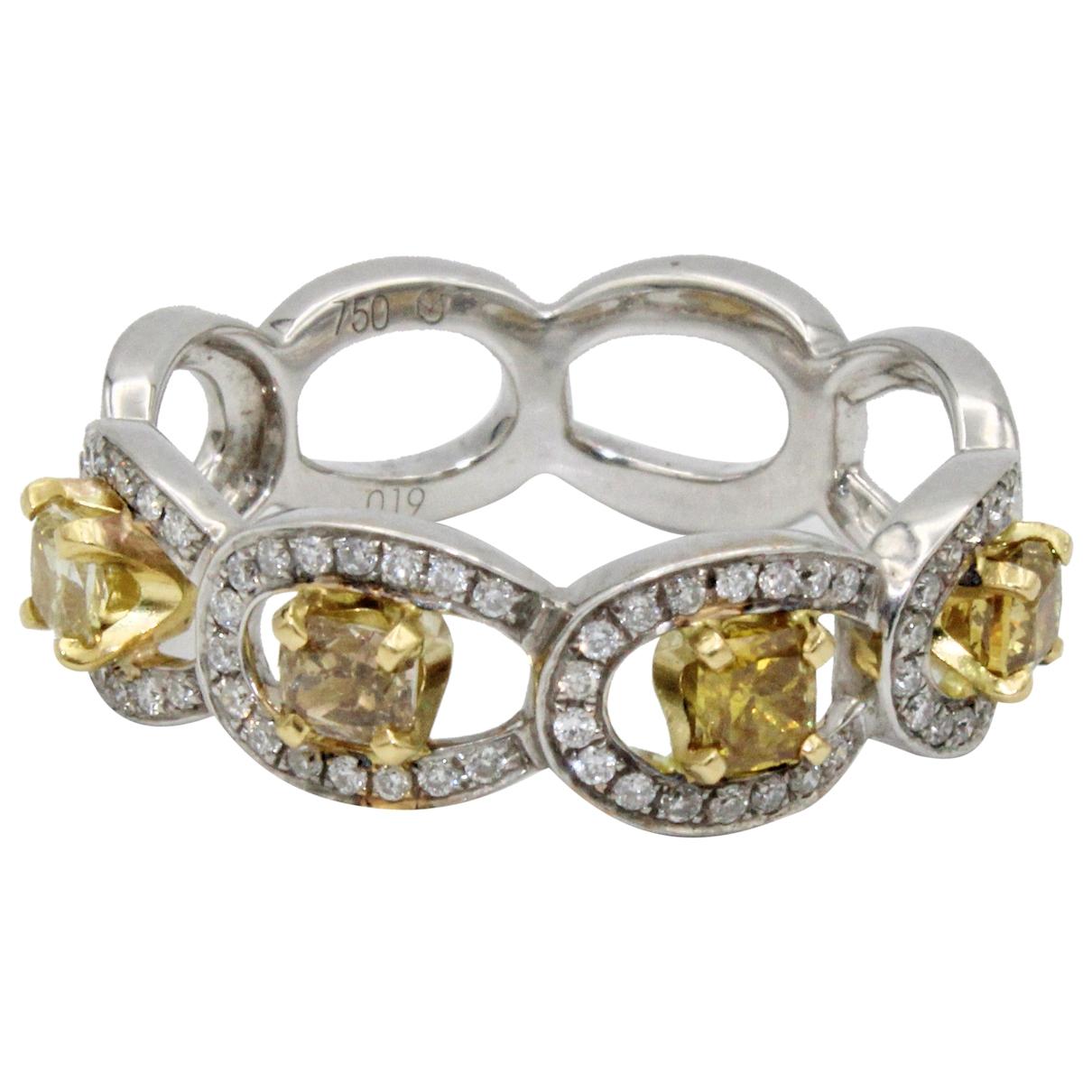 - Bague Alliance pour femme en or blanc - jaune