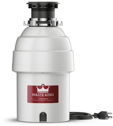 L8000 Legend Series Waste Disposer with 1 HP  Continuous Feed  Stainless Steel Grinding Components  and 2800 RPM High Speed Permanent Magnet Motor