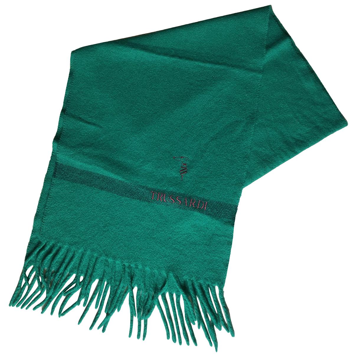 Trussardi N Green Wool scarf for Women N